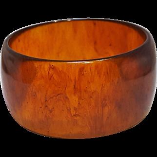 Bakelite bangle bracelet root beer marbled
