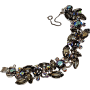 Juliana bracelet smoke grey and aurora borealis rhinestone