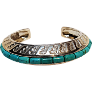 Relios sterling silver turquoise cuff Carolyn Pollack