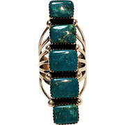 Begay sterling silver turquoise statement ring Native American Navajo