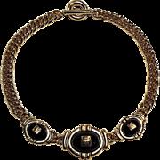 Givenchy choker necklace black cabochon