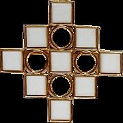 Trifari Mod geometric pin