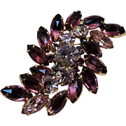 Purple lavender rhinestone pin