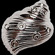 Swarovski shell pin colorless cabochons