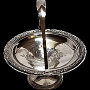 Whiting sterling silver bon bon basket handled bowl compote tazza