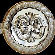 Lucite mirror compact Bliss bros unused