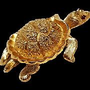 Trifari turtle pin