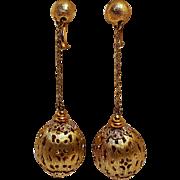 Napier earrings pierced ball drop