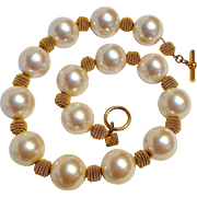 Anne Klein simulated pearl bead necklace