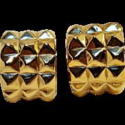 Karl Lagerfeld clip earrings wide huggie