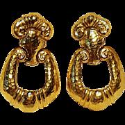 Barrera Avon clip door knocker earrings Corinthian