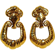 Barrera Avon clip door knocker earrings Corinthian