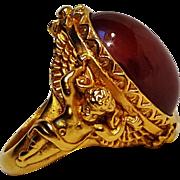 Elizabeth Taylor Gilded age cherub ring Avon