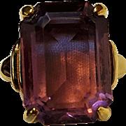 Vendome ring purple glass stone
