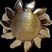 950 Sterling silver sunflower flower ring JvC