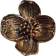 Tiffany & Company sterling silver dogwood pin