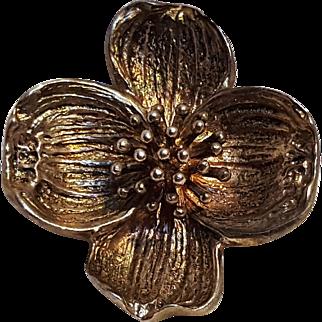 Tiffany & Company sterling silver dogwood pin