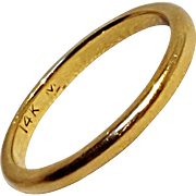 14K gold wedding band ring