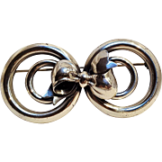 Monet sterling silver bow pin