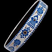 Steinbock Wien Austria enamel bangle bracelet