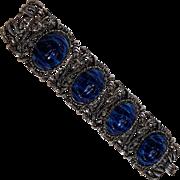 Chunky plastic scarab bracelet Egyptian motif