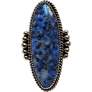 Native American Begay sterling silver denim lapis ring