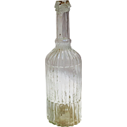Antique vertically ribbed sauce bottle