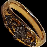 Edwardian gold filled bangle bracelet applied grapes with brilliants HL&P