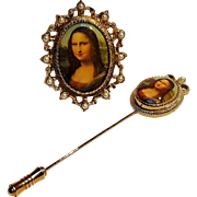 Sarah Coventry masterpiece pin set Mona Lisa