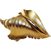 Trifari conch shell pin
