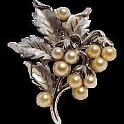 Trifari simulated pearl pin