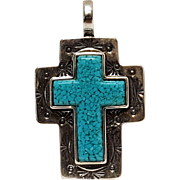 Carolyn Pollack southwest sterling cross pendant