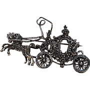 Alice Caviness horse and carriage pin