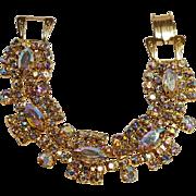 Aurora borealis rhinestone bracelet