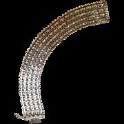 "Milor sterling silver Italy bracelet 1"" wide"