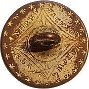 Andrew Jackson backname button March 4 1829