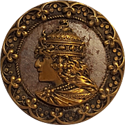 Sarah Bernhardt as Empress Theodora button