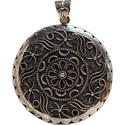Sterling silver India pendant cut work design