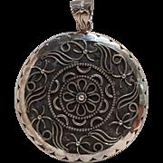 Sterling silver India pendant cut work design