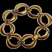 Trifari oval link bracelet