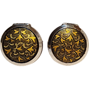 Amita sterling silver locket cufflinks
