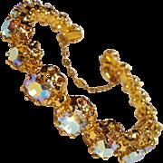 Aurora borealis rhinestone bracelet Austria