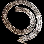 Sterling silver necklace Riccio style Milor Italy
