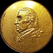 1876 Marquis de Lafayette presentation button Washington bust
