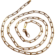 14K Gold chain link necklace 15.6 grams
