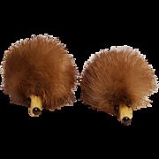 Hedgehog mink fur sweater clips Novelty