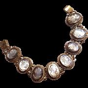Abalone cameo bracelet 800 silver