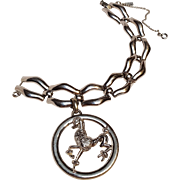 Monet bracelet with large poodle charm