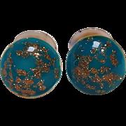 Venetian glass cufflinks barbell style