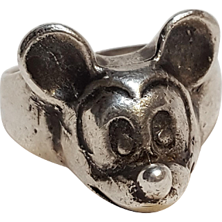 Mickey Mouse sterling silver ring Walt Disney